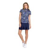 Alternate View 1 of Aspen Ray Collection: Neve Ditsy Daisy Print Short Sleeve Top