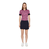 Alternate View 1 of Lexie Short Sleeve Coolmax Leopard Print Polo