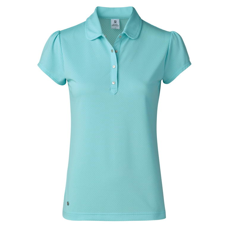 Feminine Sport Collection: Carina Short Sleeve Solid Waffle Polo