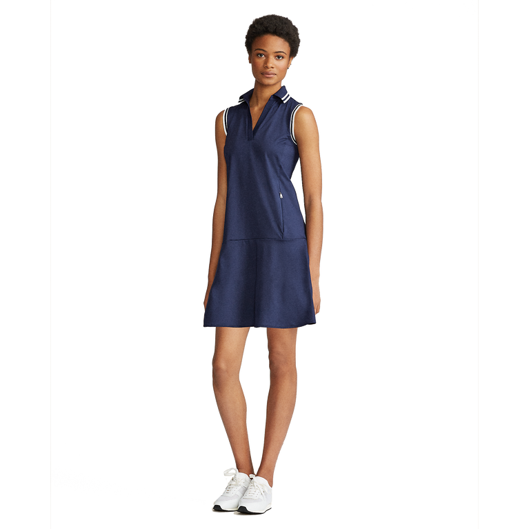 Performance Sleeveless V-Neck Golf Dress