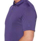 Alternate View 2 of Yarn Dyed Feeder Stripe Short Sleeve Polo Golf Shirt