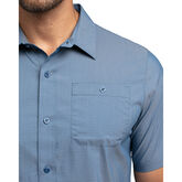 Alternate View 3 of The Take Away Short Sleeve Heathered Woven Shirt