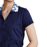 Alternate View 2 of Floral Printed Collar Short Sleeve Polo