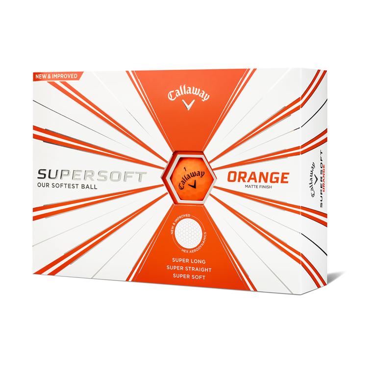 Supersoft Matte Orange Golf Balls - Personalized
