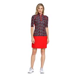 Crimson Chic Group: Ayleen Arrow Print Short Sleeve Top