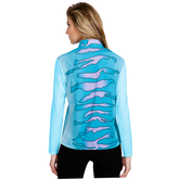 Alternate View 1 of Sunsense: Zebra Print Quarter Zip Pull Over
