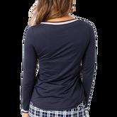 Alternate View 4 of Long Sleeve Mesh Trim Polo Shirt