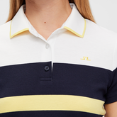 Alternate View 2 of Jade Short Sleeve Striped Polo Shirt