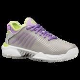 Alternate View 1 of Hypercourt Supreme Women's Tennis Shoe - Grey/Purple