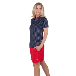 Cape May Collection: Short Sleeve Dot Raglan Polo Shirt
