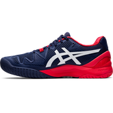 Alternate View 1 of GEL RESOLUTION 8 Men's Tennis Shoes - Navy/Red