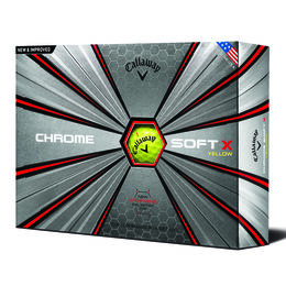 Callaway Chrome Soft X Yellow Golf Balls - Personalized