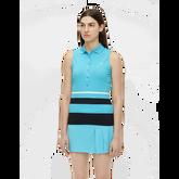 Tess Sleeveless Striped Polo Shirt