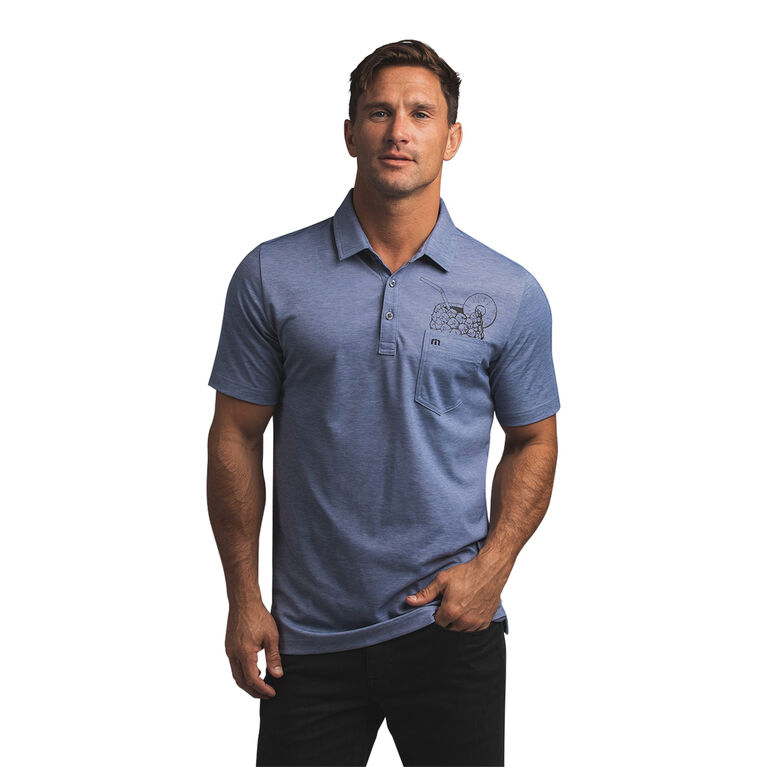 Skydiver Drink in Pocket Polo