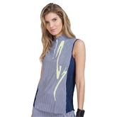 Butter Collection: Striped Crunch Sleeveless Golf Top