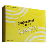 Bridgestone Lady Yellow Precept Golf Balls - Personalized