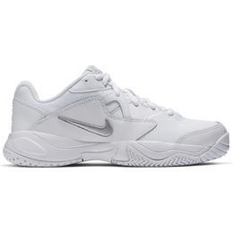 Lite 2 Women's Hard Court Tennis Shoe - White/Silver
