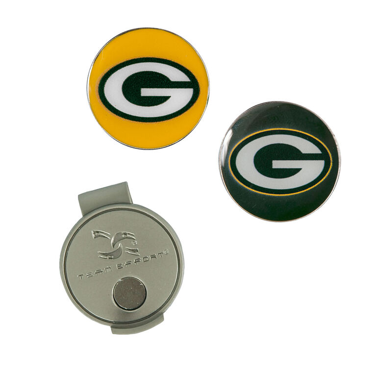 Team Effort Green Bay Packers Hat Clip & Ball Marker