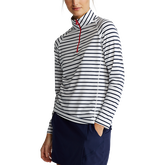 Alternate View 2 of Airflow Striped Long Sleeve Quarter-Zip Pull Over