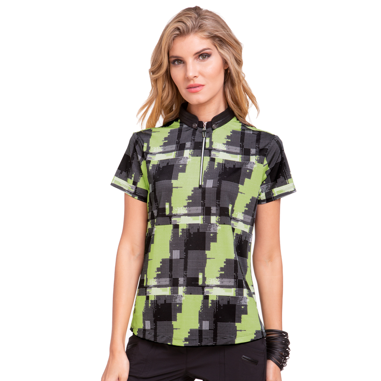 Voltage Collection: Short Sleeve Punk Plaid Top