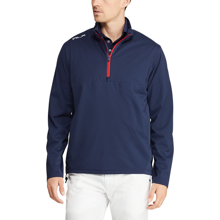 Paneled Interlock Golf Jacket