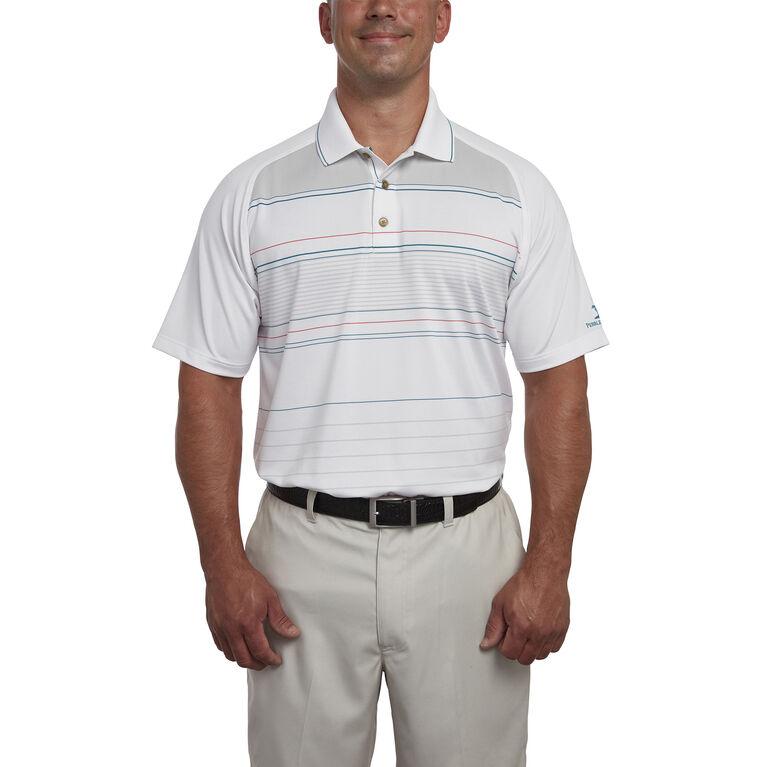 Raglan Sleeve Stripe Polo