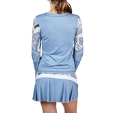 Alternate View 1 of Bluemoon Collection: Marble Inset Long Sleeve Tennis Top