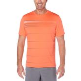 Grand Slam Striped Front Panel Short Sleeve Tee Shirt