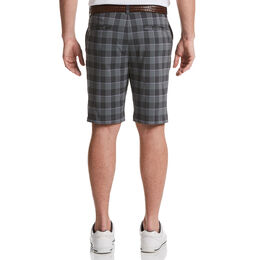 Flat Front Yarn Dyed Stacked Print Golf Short