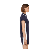 Short Sleeve Leona Trim Collar Dress Side Cut