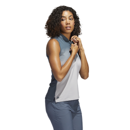 Ultimate365 Legacy Striped Sleeveless Polo Shirt