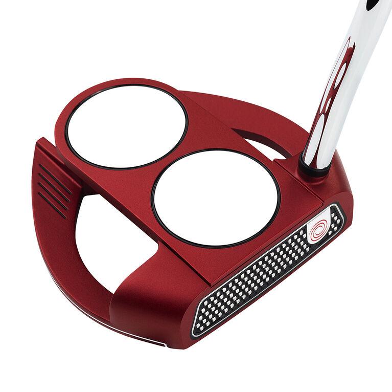Odyssey O-Works Red 2-Ball Fang Putter w/ Winn Red Grip