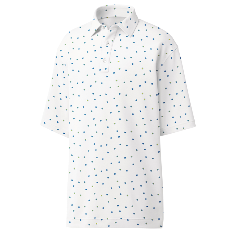 FootJoy Stretch Pique Flower Print Self Collar Polo