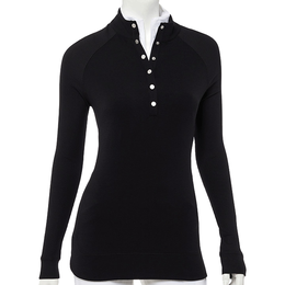 Long Sleeve Cozy Snap Placket Pullover