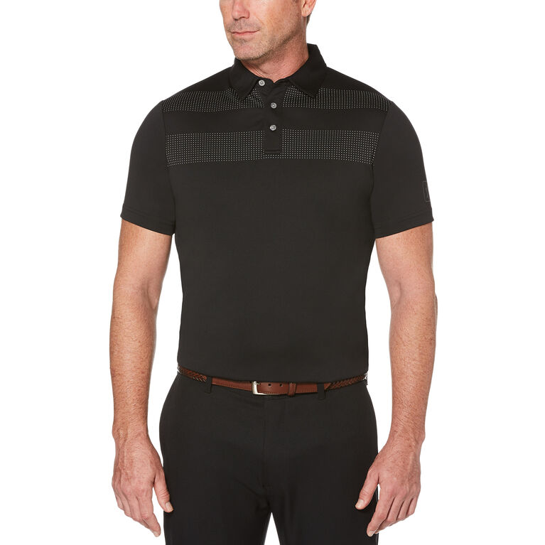 PGA TOUR Placement Texture Stripe Print Polo