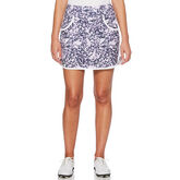 Lilac and Navy Group: 3 Tone Floral Print Skort