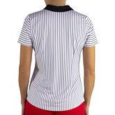 Alternate View 1 of Jofit Prosecco Horizontal Stripe Zip Polo