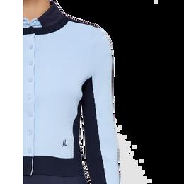 Long Sleeve Melody Stripe Sleeve Cardigan Front Closeup