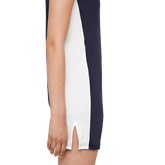 Short Sleeve Leona Trim Collar Dress Side Closeup