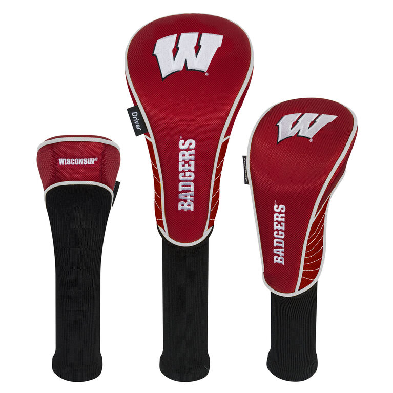 Team Effort Wisconsin Badgers Headcover Set of 3