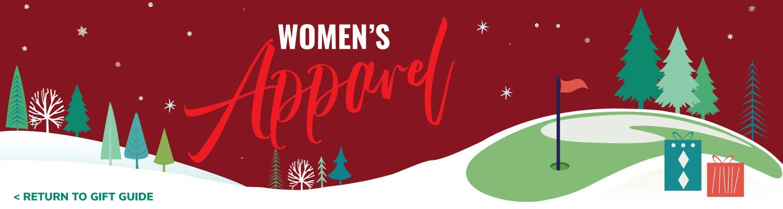 Women's Apparel gifts landing banner