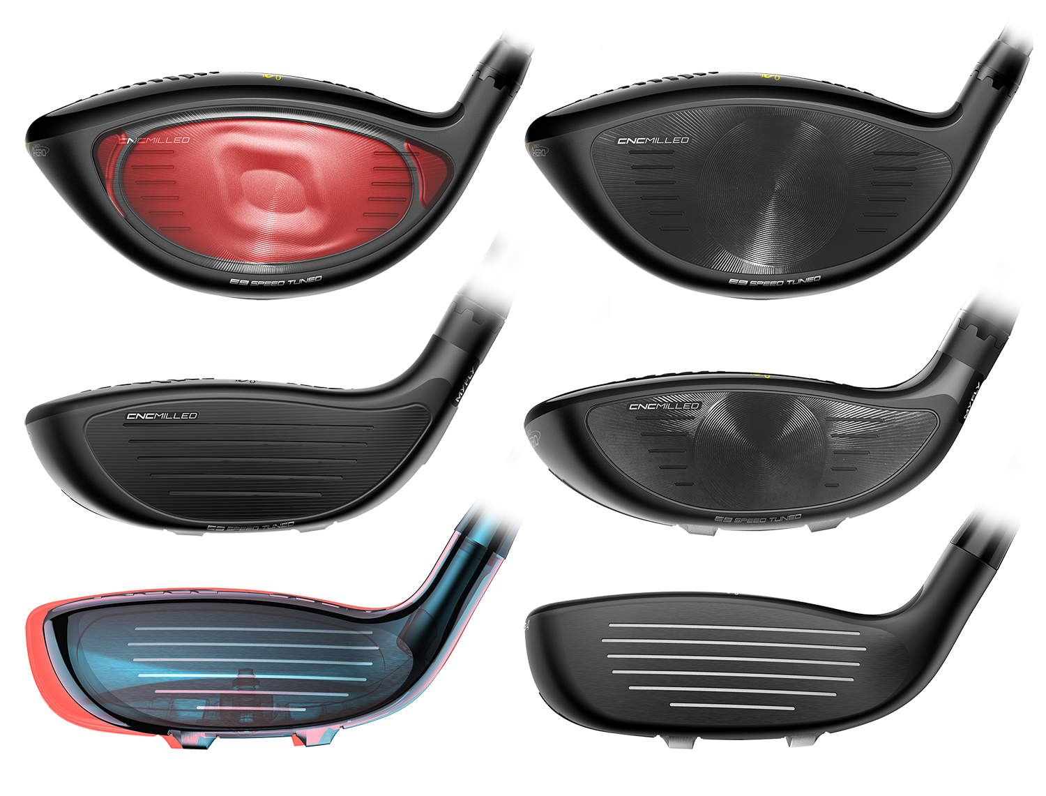 cobra king f9 clubs faces side by side