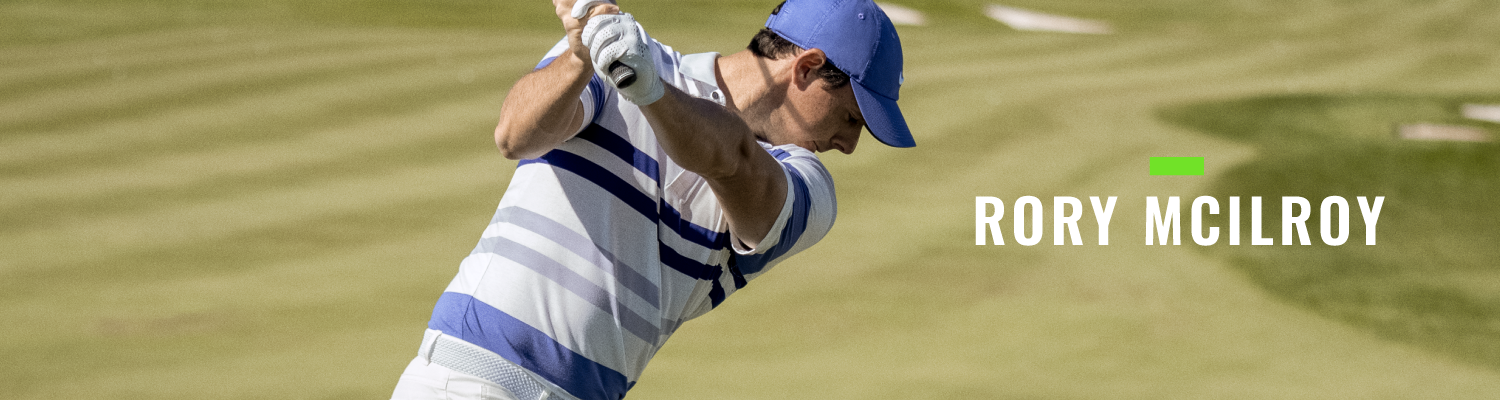 Rory McIlroy Landing Page Banner