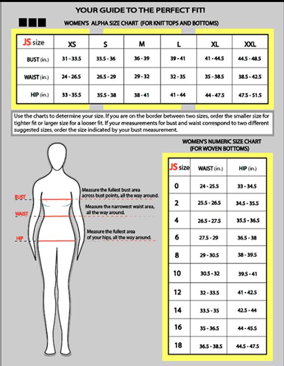 jamie-sadock-size-chart