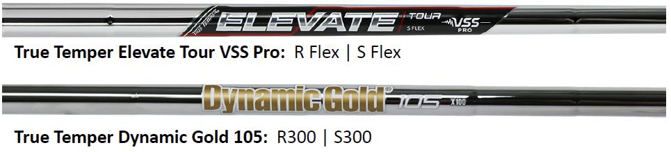 Tour Edge EXS Pro Blade Irons Shaft Specs