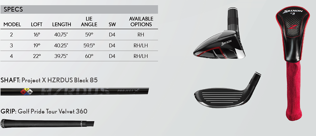 Srixon Z H85 Hybrid Tech Specs