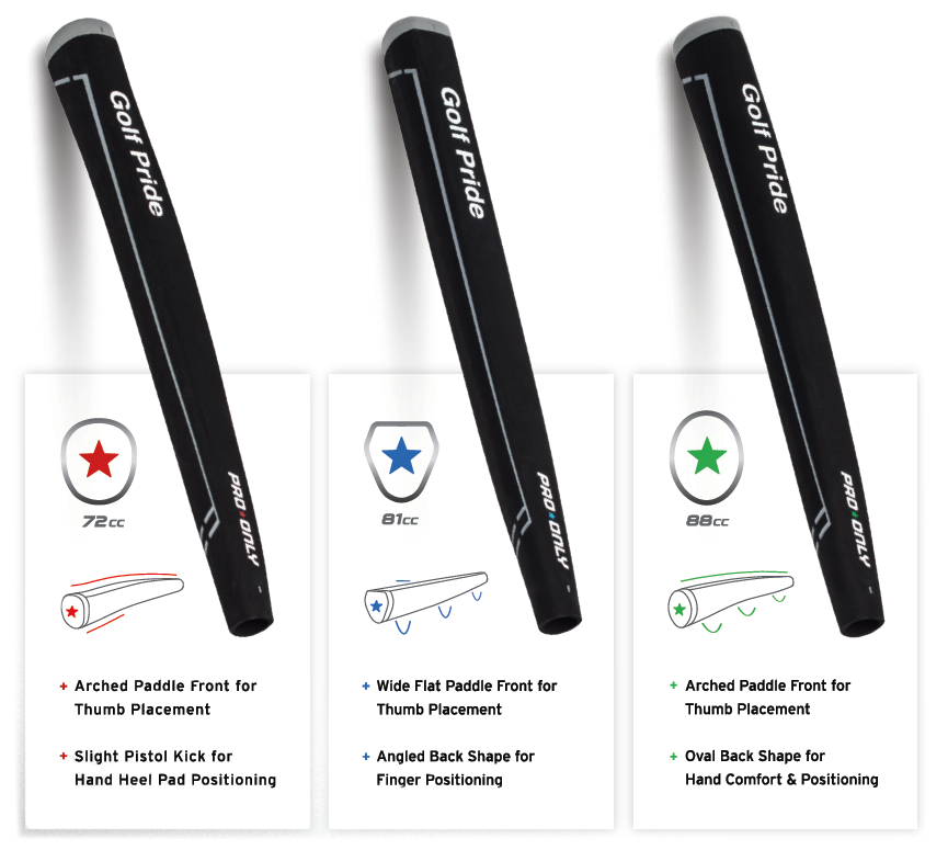 Golf Pride Pro Only Putter Grip Tech Specs