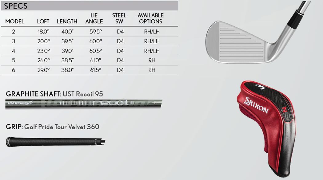 Srixon Z U85 Tech Specs