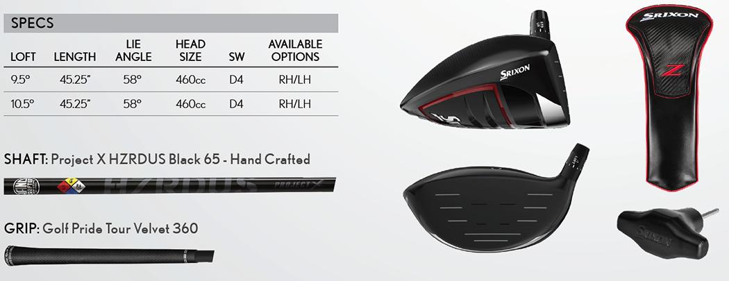 Srixon Z 785 Driver Tech Specs