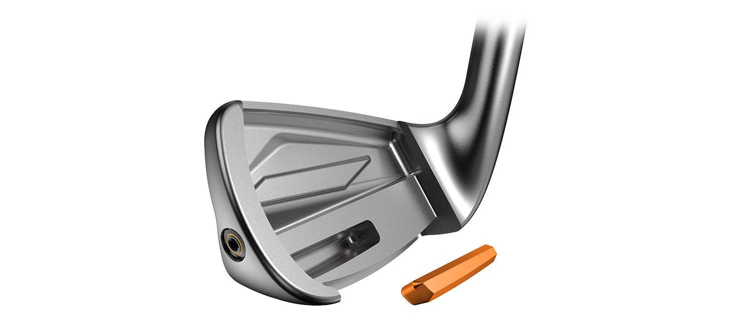 Cobra King Forged Tec Irons tungsten weighting